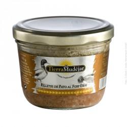 TIERRA MUDEJAR Rilletes de pato con foie gras 180 gr.