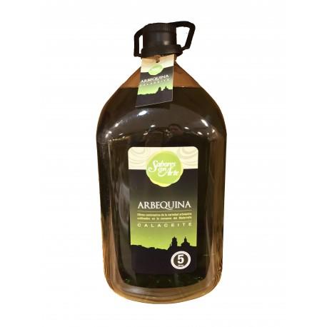 SABORES CON ARTE Aceite de oliva virgen extra Arbequina 5l