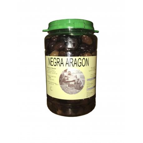 ACEITUNAS CALACEITE Aceitunas negra Aragon con aceite de oliva